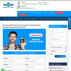 Canada 67 Immigration Points Calculator 2019