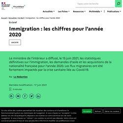 Immigration : les chiffres pour l'année 2020