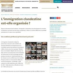L'immigration clandestine est-elle organisée ?