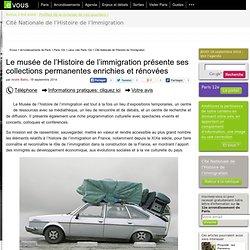 Evous.fr - Le musée de l'Histoire de l'immigration présente ses collections permanentes enrichies et rénovées