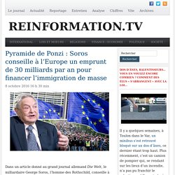 Immigration : Soros conseille à l'Europe un emprunt