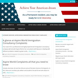 Aspire World Immigration Consultancy Complaints