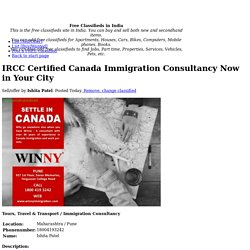 IRCC Certified Canada Immigration Consultancy Now in Your City