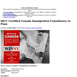 IRCC Certified Canada Immigration Consultancy in Pune