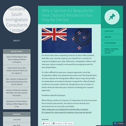 Why a Section 61 Request for New Zealand Residence Visa may be Denied