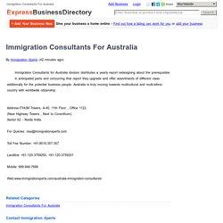 Immigration Consultants For Australia
