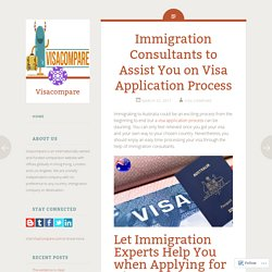 Immigration Consultants to Assist You on Visa Application Process