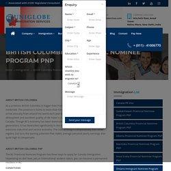 British Columbia Provincial Nominee Program (PNP)
