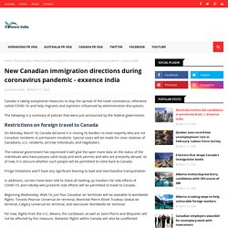 New Canadian immigration directions during coronavirus pandemic - exxence india