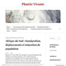 Afrique du Sud : Immigration, déplacements et migration de population