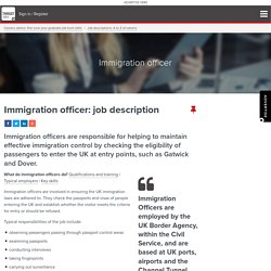 Immigration officer: job description