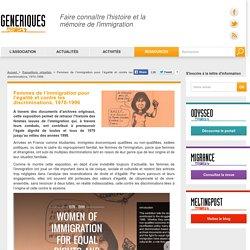 Femmes de l'immigration pour l'égalité et contre les discriminations, 1970-1996