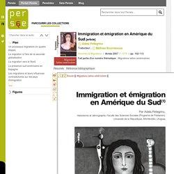 Immigration et émigration en Amérique du Sud