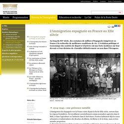 L'immigration espagnole en France au XXe siècle