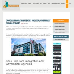 Canadian Immigration Agencies and Local Government for Visa Services
