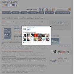 L'édition 2013 du guide Immigrer au Québec est en ligne !