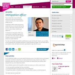 Immigration officer job information