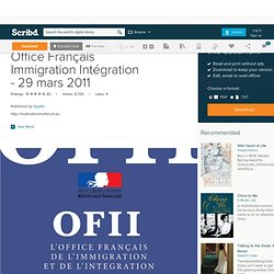 Chiffres stat pearltrees - Ofii office francais immigration integration ...
