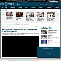 """Immigration : La leçon de Fatou Diome dans """"Ce soir (ou jamais !)"""""""