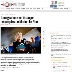 Immigration: les étranges décomptes de Marine Le Pen