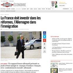La France doit investir dans les réformes, l'Allemagne dans l'immigration
