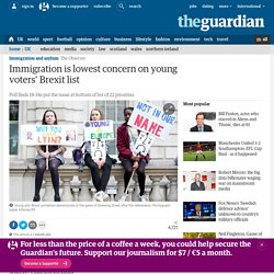Immigration is lowest concern on young voters' Brexit list