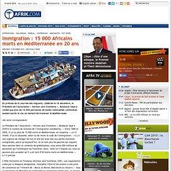 Immigration : 15 000 Africains morts en Méditerranée en 20 ans