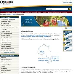 Immigration en Ontario - Villes et villages