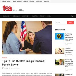 Tips To Find The Best Immigration Work Permits Lawyer By TSA News Blog