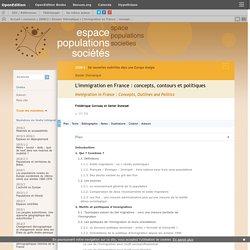L'immigration en France : concepts, contours et politiques