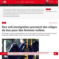 Des anti-immigration prennent des sièges de bus pour des femmes voilées