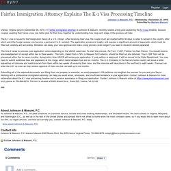 Fairfax Immigration Attorney Explains The K-1 Visa Processing Timeline