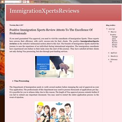 Positive Immigration Xperts Review Attests To The Excellence Of Professionals