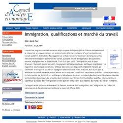 Immigration, qualifications et marché du travail