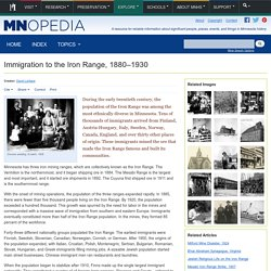 Immigration to the Iron Range, 1880–1930