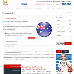 Australia Immigration Requirements for Business Investors and Study Visa