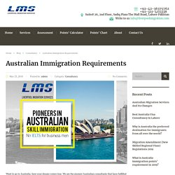 Australian Immigration Requirements