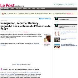 Immigration, sécurité: Sarkozy gagne-t-il des électeurs du FN en vue de 2012? - LePost.fr