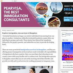 Explore immigration visa services in Bangalore