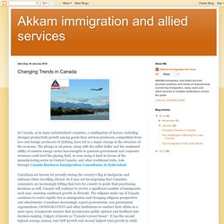 Akkam immigration and allied services: Changing Trends in Canada