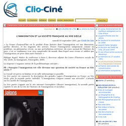 L'immigration et la société française au XXe siècle - Clio-Ciné