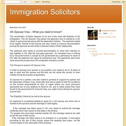 Immigration Solicitors: UK Spouse Visa – What you need to know?