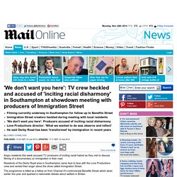 Immigration Street crew accused of 'inciting racial disharmony' in Southampton