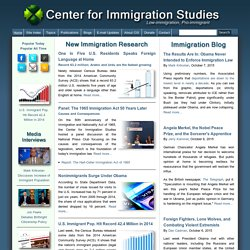 Center for Immigration Studies | Low-immigration, Pro-immigrant