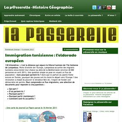 Immigration tunisienne : l'eldorado européen - La p@sserelle -Histoire Géographie-
