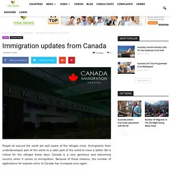 Immigration updates from Canada