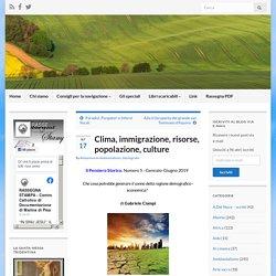 Clima, immigrazione, risorse, popolazione, culture – Rassegna Stampa Cattolica