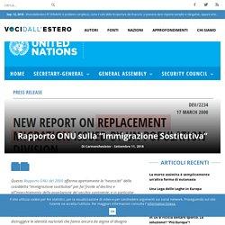 """Rapporto ONU sulla """"Immigrazione Sostitutiva"""""""