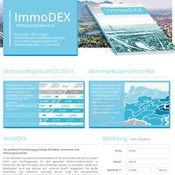ImmoDEX - údaje o cenách nehnuteľností Celkom Rakúsko