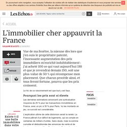 L'immobilier cher appauvrit la France